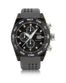 Locman Designer Men's Watches, Stealth 300mt Dark Gray Stainless Steel and Titanium Men's Chronograph Watch