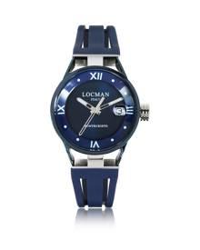 Locman Designer Women's Watches, Montecristo Stainless Steel and Titanium Women's Watch w/Silicone Strap