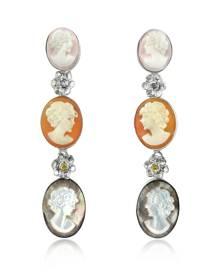 Mia & Beverly Designer Cameo, Cameo Drop Earrings