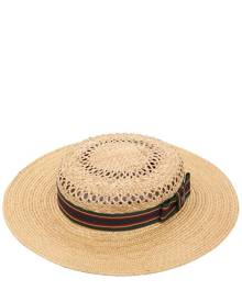 KREISI COUTURE Michelle Straw Boater Hat
