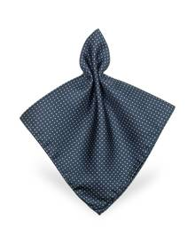 Forzieri Mini Polkadot Twill Silk Pocket Square