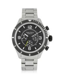 Nautica Designer Men's Watches, Silver Tone Stainless Steel Men's Bracelet Watch