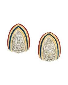 Pierre Cardin Vintage - embellished clip-on earrings - women - Gold Plated Metal - One Size - METALLIC