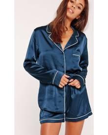 Missguided Piping Detail Short Pyjama Set