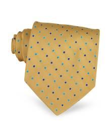 Villa Bolgheri Polkadots Woven Silk Tie