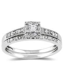 Princess Diamond Bridal Set in 10K White Gold