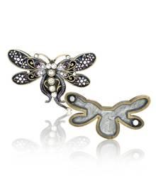 Welforth Purple Dragonfly Decorative Trinket Box