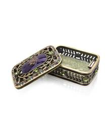 Welforth Purple Epoxy Box with Stones