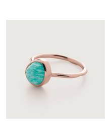 Monica Vinader Rose Gold Siren Stacking Ring Amazonite