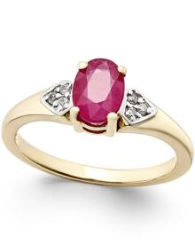 Macy's Ruby (1 ct. t.w.) and Diamond Accent Ring in 14k Gold