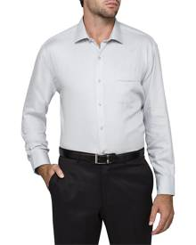 Van Heusen Shirts Classic Relaxed Fit Shirt Herringbone Silver 37 To 56
