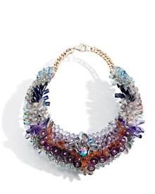 KEN SAMUDIO Swarovski Crystals & Plastic Necklace