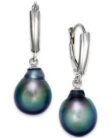 Macy's Tahitian Pearl Drop Earrings in 14k White Gold (10mm)