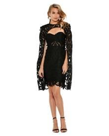 Thurley - Black Khalessi Cape Dress