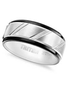 Macy's Triton Men's Ring, Tungsten Carbide Band (9mm)