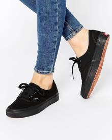 Vans Authentic Classic Black Mono Lace Up Sneakers - Black