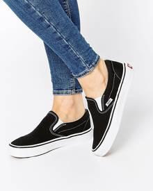 Vans Classic Black Slip On Sneakers - Black