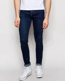Weekday Form Super Skinny Jeans in Stretch MTW Mid Blue - Blue
